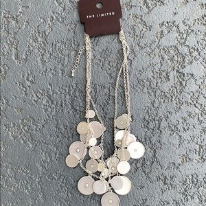 Silver Coin & Crystal Necklace